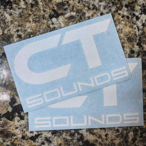(2) Pack of CT Sounds Decals - CT SOUNDS
