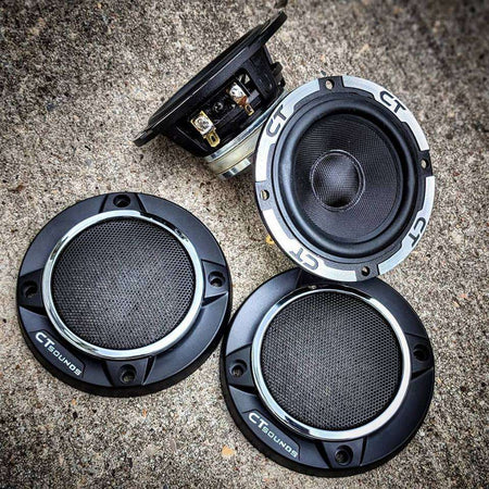 Meso 3.5 Inch Midrange Speakers (Pair) Speakers- CT Sounds Car Audio
