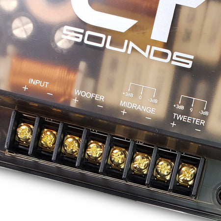 Passive 3-Way Crossover (Pair) 04 Speakers- CT Sounds Car Audio