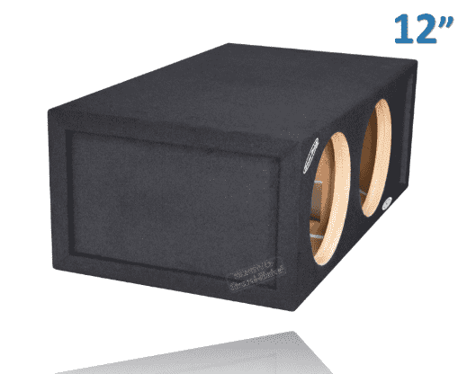 Dual 12 Inch 30 hz Ported Box Subwoofer Box- CT Sounds Car Audio