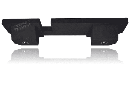 "Black 8"" Dual Sealed Sub Box, Fits Dodge Ram 1500 2500 3500 Crew-Cab & Ext-Cab 2002-2018 Subwoofer Box- CT Sounds Car Audio"