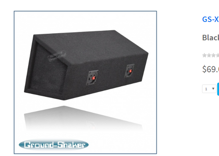 "Black 6 1/2"" Dual Speaker Enclosure Subwoofer Box- CT Sounds Car Audio"