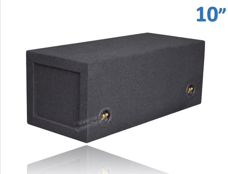 "Black 10"" Dual Slot Ported Bandpass Sub Box Subwoofer Box- CT Sounds Car Audio"
