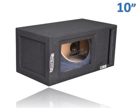 "Black 10"" Single Slot Ported Bandpass Sub Box Subwoofer Box- CT Sounds Car Audio"