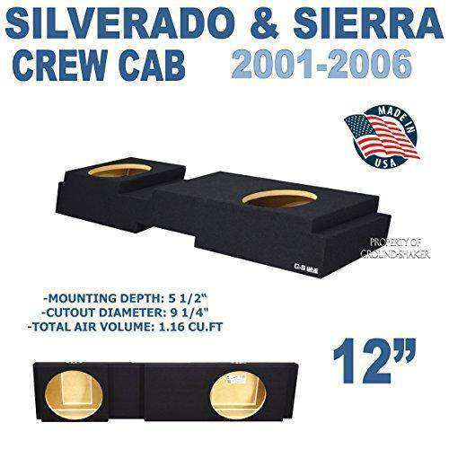 "Chevy Silverado & Gmc Sierra Crew-Cab 2001-2006 12"" Dual sealed sub box - CT SOUNDS"