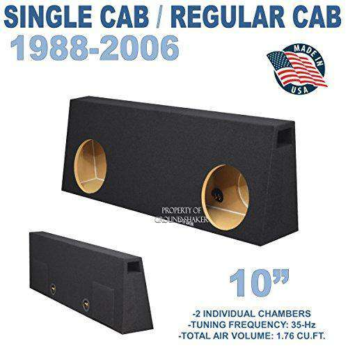 "Fits Regular-Cab/Single cab Trucks 10"" Dual Ported Sub Box Subwoofer Box- CT Sounds Car Audio"