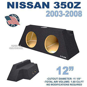 "Nissan 350z Coupe 12"" dual sub box - CT Sounds Car Audio"