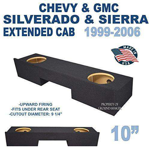 "Chevy Silverado & Gmc Sierra Ext-Cab 1999-2006 10"" Dual Sealed Sub Box Subwoofer Box- CT Sounds Car Audio"