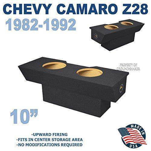"Black 10"" Dual Sealed Sub Box, Fits Chevy Camaro 1982-1992 Subwoofer Box- CT Sounds Car Audio"