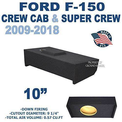 "Ford F-150 Crew-Cab 2009-2018 10"" Single sealed sub box - CT SOUNDS"