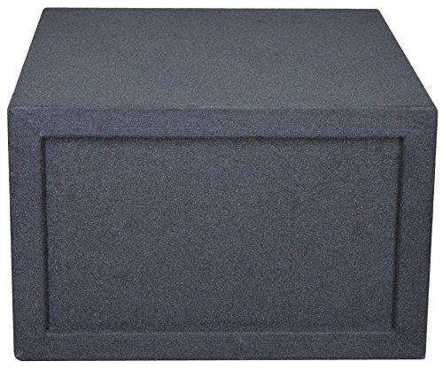 "Black 12"" Single Competition Ported Sub Box 12 Inch Subwoofer Box- CT Sounds Car Audio"