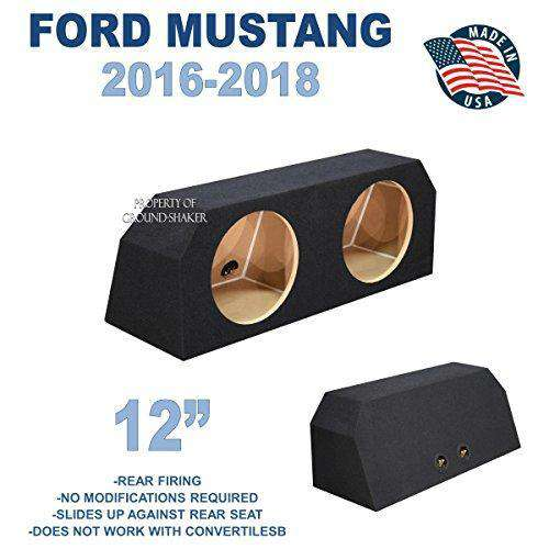 "Ford Mustang Coupe 2016-2018 12"" Dual Sealed Sub Box - CT SOUNDS"