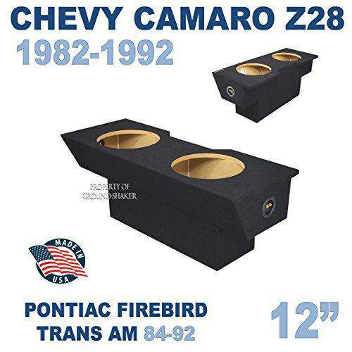 "Chevy Camaro 1982-1992 12"" Dual Sealed Sub Box - CT SOUNDS"