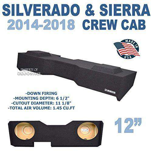 "Chevy Silverado & Gmc Sierra Crew-Cab 2014-2018 12"" Dual sub box - CT SOUNDS"