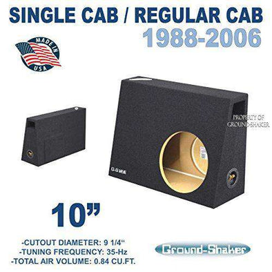 "Fits Regular-Cab/Regular cab Trucks 10"" Single Ported Sub Box - CT Sounds Car Audio"