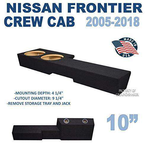 "Frontier Crew-Cab 2005-2018 10"" Dual Sealed Sub Box Subwoofer Box- CT Sounds Car Audio"