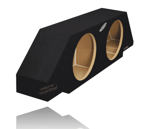 "Black 12"" Dual Sealed Sub Box, Fits Chevy Camaro 2010-2015 Subwoofer Box- CT Sounds Car Audio"