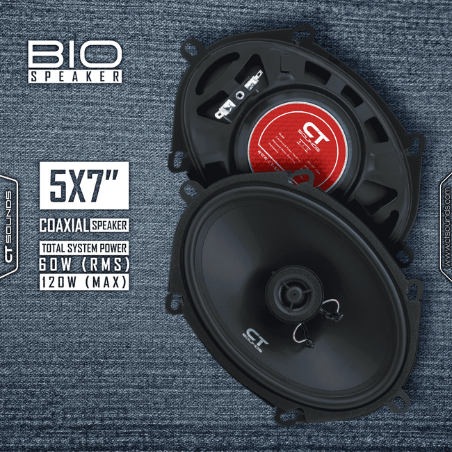 Product Return || Bio 5x7 Inch Coaxial Speakers (Brand New - Working) 04 Speakers- CT Sounds Car Audio