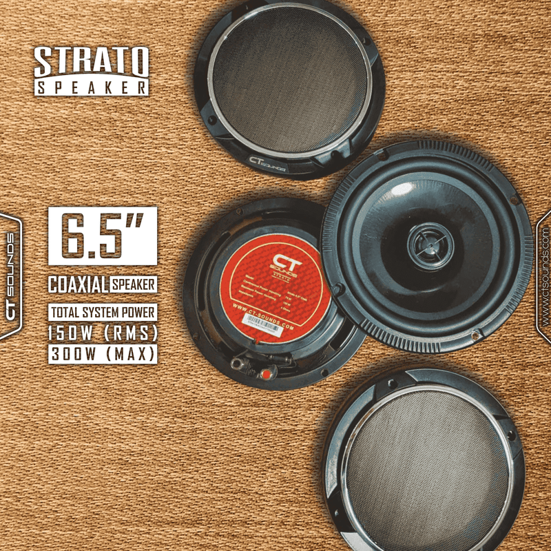 Product Return || Strato 6.5 Inch Coax (Used - Not Working) Speakers- CT Sounds Car Audio