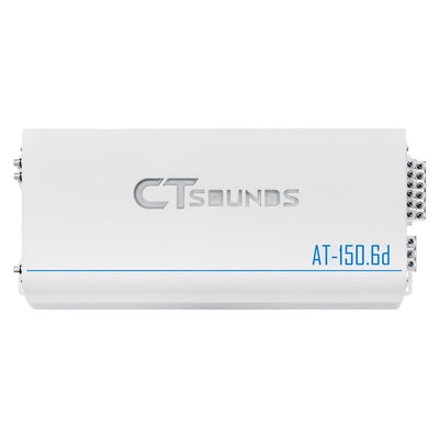 AT-150.6d // 1500 Watts RMS 6-Channel Car Audio Amplifier - CT SOUNDS