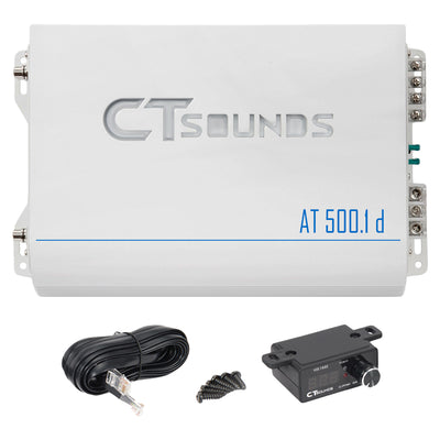 AT-500.1d // 600 Watts RMS Monoblock Car Audio Amplifier - CT SOUNDS