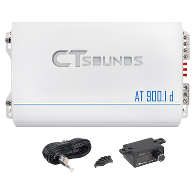 AT-900.1d // 1200 Watts RMS Monoblock Car Audio Amplifier - CT SOUNDS