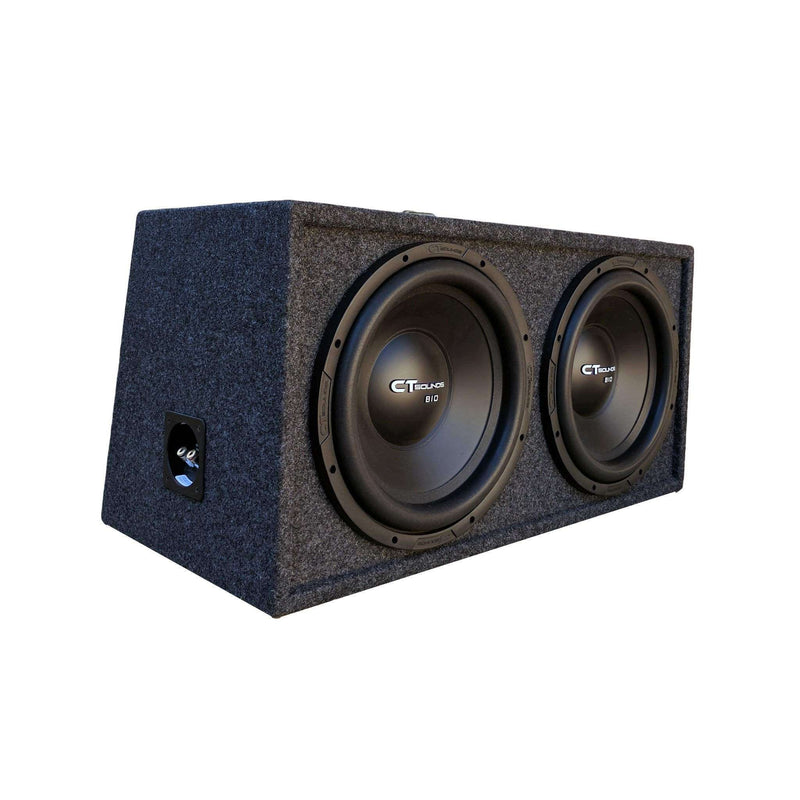 "Dual Bio 10"" S4s V1.0; 300W RMS; PORTED Bass Package (B-Box-D-10-1.0) Bass Packages- CT Sounds Car Audio"
