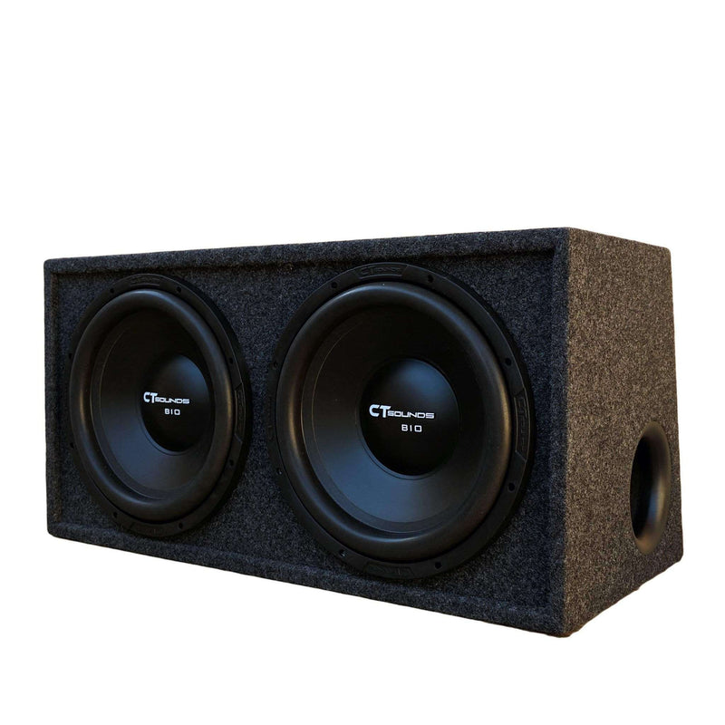 "Dual Bio 10"" S4s V1.0; 300W RMS; PORTED Bass Package (B-Box-D-10-1.0) 09 Bass Package- CT Sounds Car Audio"