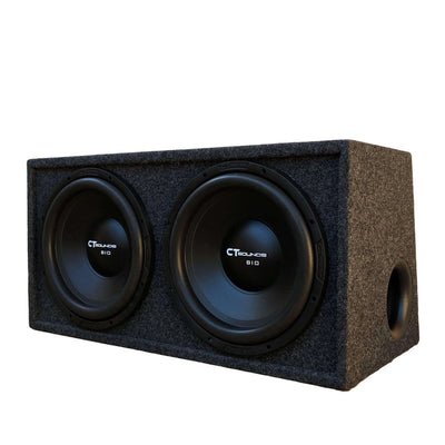 "Dual Bio 12"" D4s V2.0; 600W RMS; PORTED Bass Package (B-Box-D-12-2.0) 09 Bass Package- CT Sounds Car Audio"