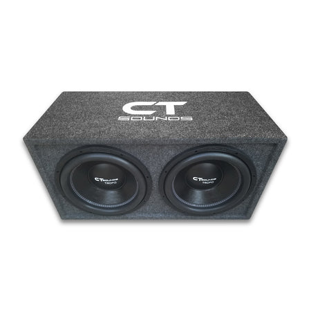 "Dual TROPO 12"" D4s; 1200W RMS; PORTED Bass Package (Factory Tuned & Tested) Bass Packages- CT Sounds Car Audio"