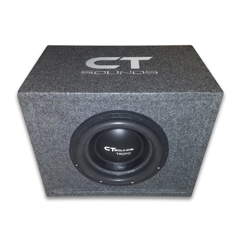 "Single TROPO 10"" D2; 600W RMS; PORTED Bass Package (Factory Tuned & Tested) Bass Packages- CT Sounds Car Audio"