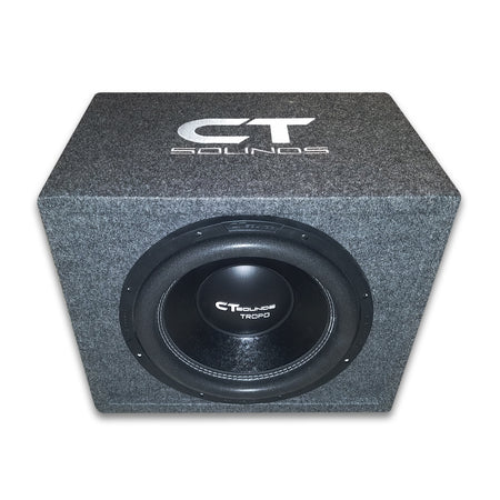 "Single TROPO 12"" D2; 600W RMS; PORTED Bass Package (Factory Tuned & Tested) Bass Package- CT Sounds Car Audio"
