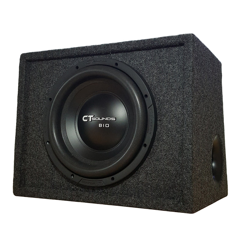 "Single Bio 10"" D2 V2.0; 300W RMS; PORTED Bass Package (B-Box-S-10-2.0) 09 Bass Package- CT Sounds Car Audio"
