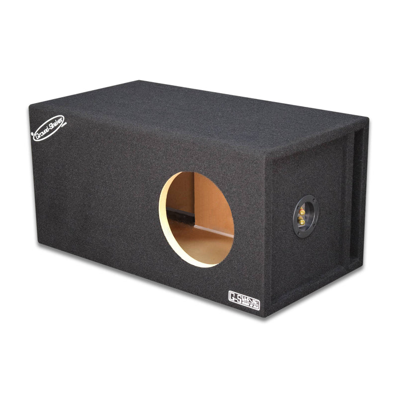 "Black 8"" Single Ported Extra Large Sub Box Subwoofer Box- CT Sounds Car Audio"