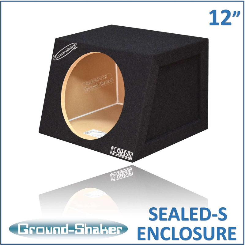 12 Inch Compact Sealed Box Subwoofer Box- CT Sounds Car Audio