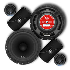 Bio 6.5 Inch Component Speaker Set 04 Speakers- CT Sounds Car Audio