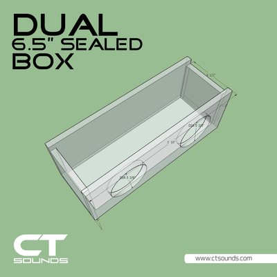 Dual 6.5 Inch SEALED Subwoofer Box Design - CT SOUNDS