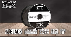 12A CCA Black Wire Spool (100 Feet) 05 Wiring- CT Sounds Car Audio