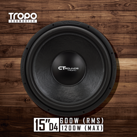 Tropo 15 Inch D4 (600W RMS) 01 Subwoofers- CT Sounds Car Audio