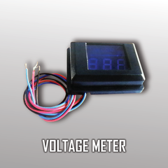 Voltage Meter with Digital Display (BLUE color lights) 05 Wiring- CT Sounds Car Audio