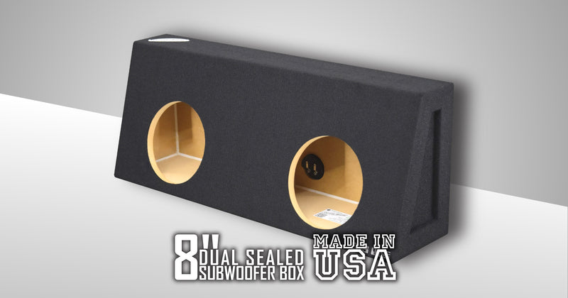 Dual 8 Inch Sealed Truck Box Subwoofer Box- CT Sounds Car Audio