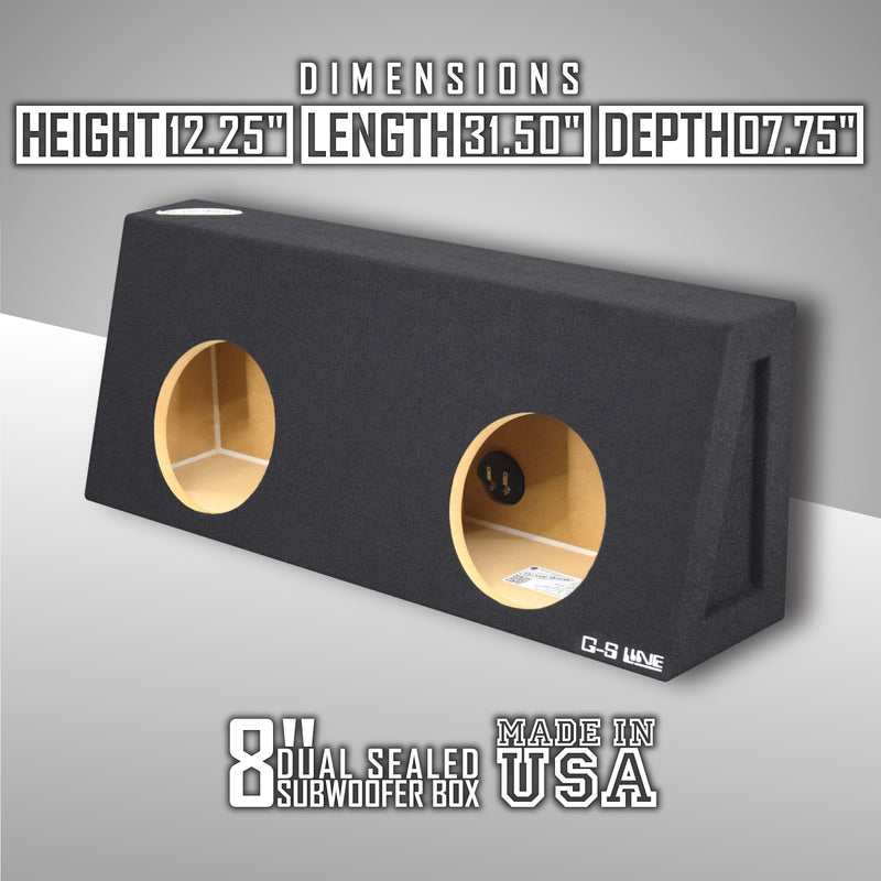 Dual 8 Inch Sealed Truck Box - CT Sounds Car Audio
