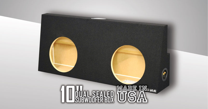 "Fits Ford F250 To F550 Super Duty Crew-Cab With Or Without Power Window 2004-2016 10"" Dual Sealed Sub Box Subwoofer Box- CT Sounds Car Audio"