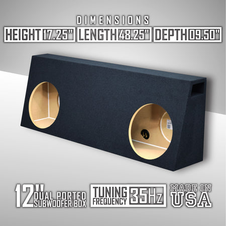 "Fits Regular-Cab/Single cab Trucks 12"" Dual Ported Sub Box"