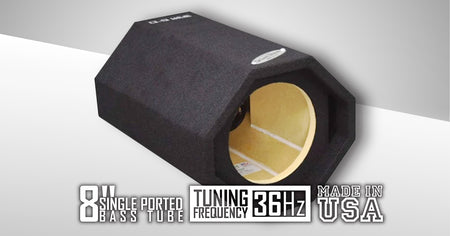 Single 8 Inch Ported Bass Tube - CT Sounds Car Audio