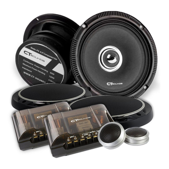 Strato PA 6.5 Inch Component Speakers Speakers- CT Sounds Car Audio