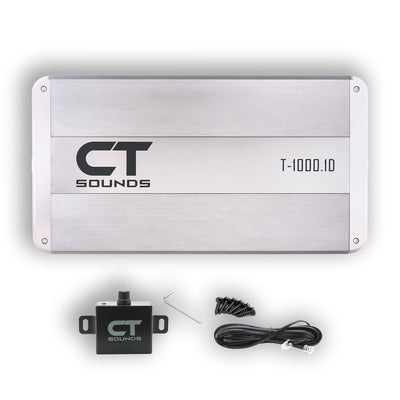 T-1000.1D // 1000 Watts RMS Monoblock Car Audio Amplifier - CT SOUNDS