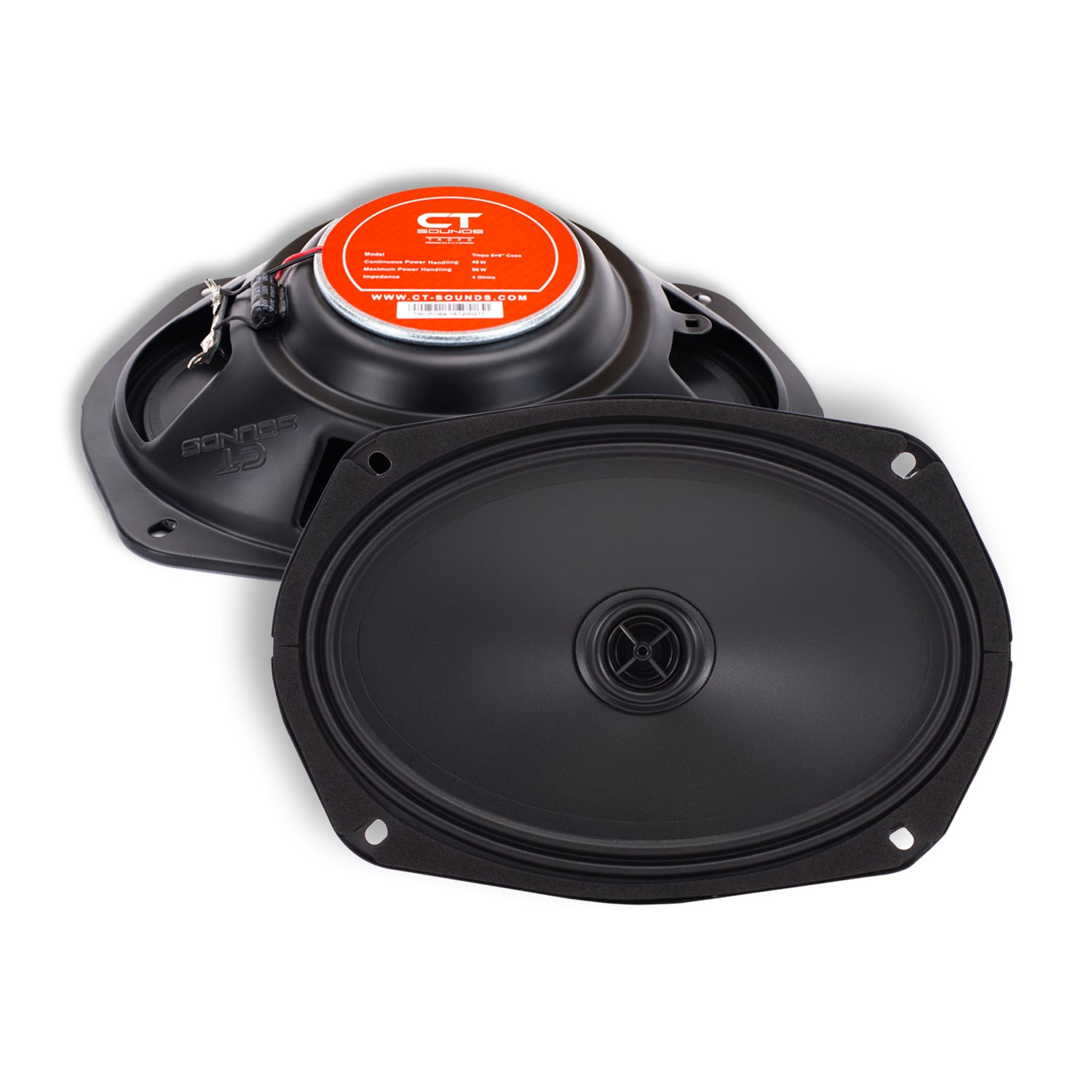 """CT Sounds Tropo 6X9/"""" Inch Ultra Shallow Coaxial Car Door Coax Speakers Pair"""
