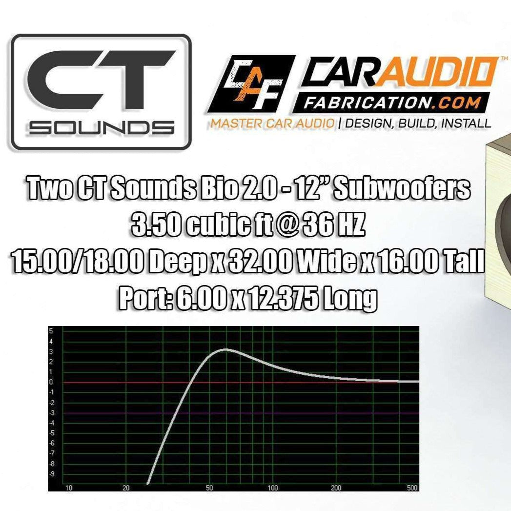 CT Sounds | Dual 12 Inch Front PORTED Subwoofer Box Design