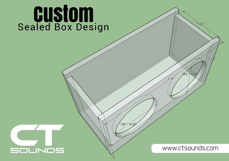 Custom Sealed Subwoofer Box Design - CT SOUNDS
